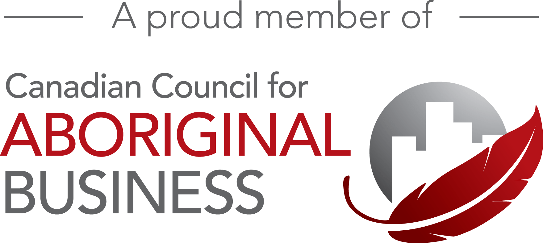 Proud member of the Canadian Council for Aboriginal Business