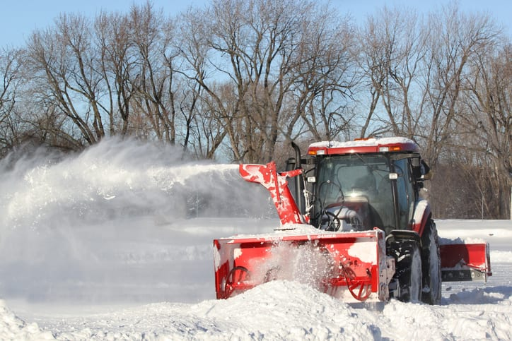 Snow removal with a snow blower in Prince Albert, SK